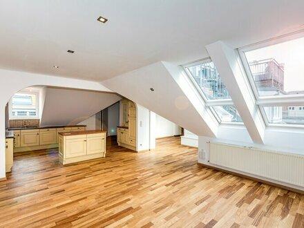 Wohntraum mit riesiger idyllischer Dachterrasse - Helle großzügige Dachgeschoßwohnung - 129m² mit 47m² Dachterrasse - 1040…