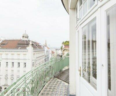 Außergewöhnliche 3-Zimmer Altbauwohnung mit runder Terrasse in 1030 Wien zu vermieten!