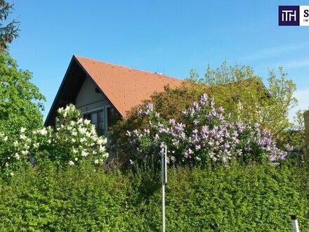 ITH: ATTRAKTIV! Gemütliches Einfamilienhaus + Gewerbe-/Produktionshalle + Lager + Gartenhaus + Biotop!