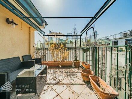 Außergewöhnliche 3-Zimmer Maisonettenwohnung mit Terrasse beim Karmelitermarkt