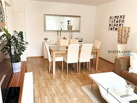UNBEFRISTETE, helle 2 Zimmer Wohnung mit Balkon - möbliert - grünblick