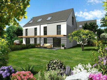 Wunderschöne Doppelhäuser mit großem Garten, nur 600m von der UBahn (U1) entfernt, Baurechtsgrund