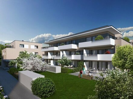 Aigen: 3-Zimmer-Dachgeschosswohnung mit großer Südwestterrasse - ERSTBEZUG!