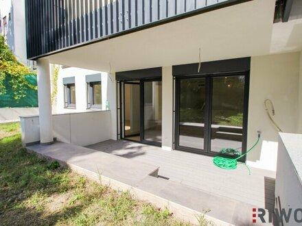 Moderne Gartenwohnung in Grünlage // Erstbezug // Garage // WG geeignet