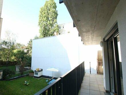 Gartenseitige 2-Zimmer Neubau Wohnung auf 43m² mit Einbauküche und BALKON - 1160 Wien