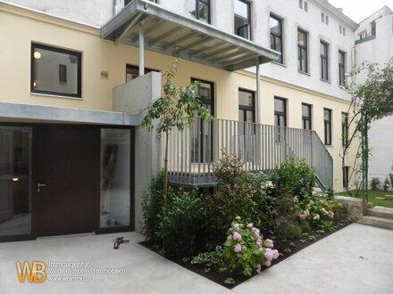Zentrales Wohnen und Arbeiten in Ruhelage, wie im eigenen Haus, topsaniert mit Terrasse und Garten