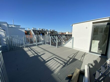 Luxusimmobilie, Dachgeschoß Wohnung mit Balkon und Flachdachterrasse