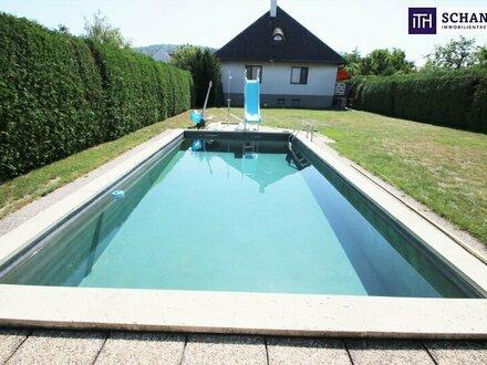 Wohnen in absoluter Ruhe- und Traumlage in Bisamberg! Riesen Grundstück + Pool + Neues Lebensgefühl!
