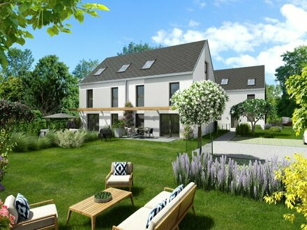 Modernes Doppelhaus nur 600m zur UBahn (U1), mit großem Garten, Baurechtsgrund