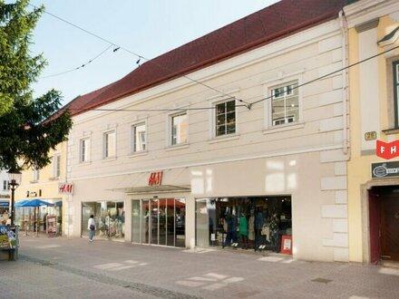 Vermietet werden großzügige Geschäftsflächen in der Fußgängerzone Wr. Neustadt