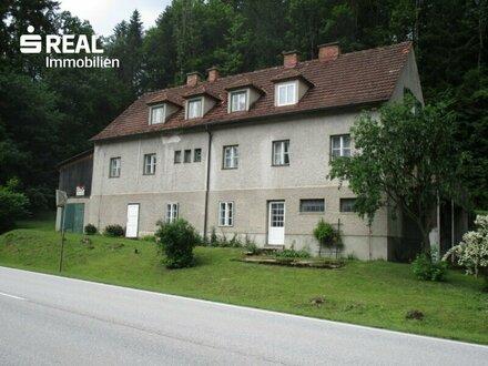 Nähe Scheibbs: Wohnhaus mit vier Wohnungen und großem Grund