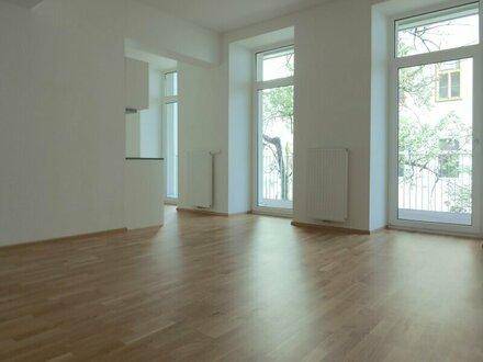 Ruhige 2-Zimmer Wohnung mit riesigem Balkon!