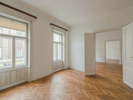 ++NEU++ Sanierungsbedürftige Stilaltbauwohnung in aufstrebender Lage! 4-Zimmer möglich!