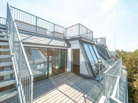 **den AUGARTEN ums Eck** Hochwertige 3-Zimmer DG-Maisonette! Terrasse+Dachterrasse mit unglaublichem WEITBLICK!! TABOR-SKY