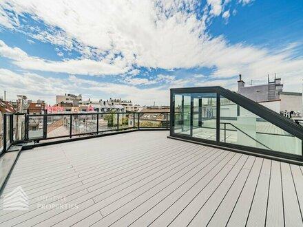 Luxuriöse 3-Zimmer Dachgeschoss-Wohnung mit Terrasse, Nähe Schütte-Lihotzky-Park