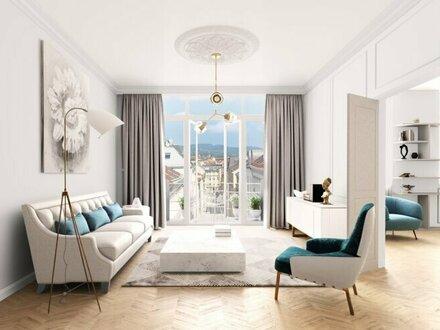KANDLHOF - Urbanes Wohnen im generalsanierten ALTBAU mit großem Erker - 1070 Wien
