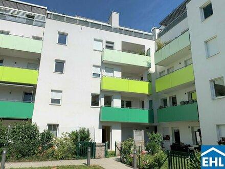 Hofseitig ausgerichtete 2-Zimmerwohnung mit Eigengarten und geräumigen Garagenstellplatz