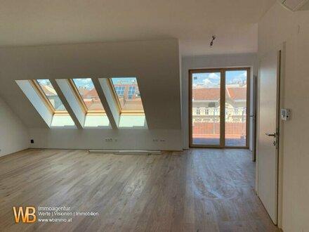 WOHNEN AUF EINER EBENE! Exlusive 3 Zimmer Dachgeschoßwohnung mit Balkon und Dachterrasse