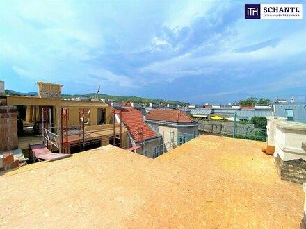 3,10 Raumhöhe über den Dächern Wiens: Perfekte Raumaufteilung + riesige Fensterflächen + 3-Zimmer + lichtdurchflutete Wohnküche…