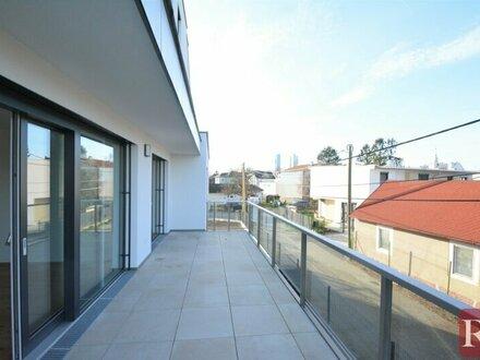 Nähe Alte Donau und Uno City - 2-Zimmer-Terrassenwohnung im Erstbezug
