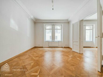 Ablösefreie, elegante 3-Zimmer Altbauwohnung mit Balkon, Nähe Karlsplatz