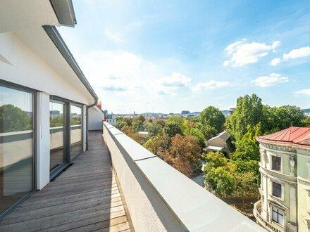 ++AUGARTENBLICK++ Hochwertige 3-Zimmer DG-Maisonette! Terrasse+Dachterrasse mit tollem WEITBLICK!