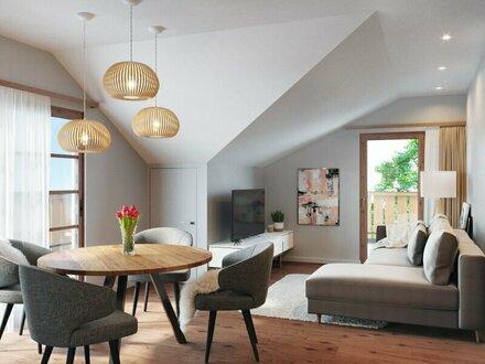 MUSTERWOHNUNG Wohnglück: 2-Zimmer-Wohnung im DG, Top 9
