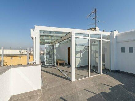 ++PROVISIONSRABATT++ Außergewöhnliche DG-Wohnung mit Dachterrasse, Wintergarten und Sauna! ERSTBEZUG nach Sanierung!