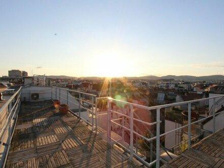 Servitenviertel - Traumhafter Blick über die Stadt - Architekten-Dachgeschoss-Maisonette