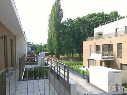 Ruhige Neubau-Wohnung mit Balkon und großem Gemeinschaftsgarten