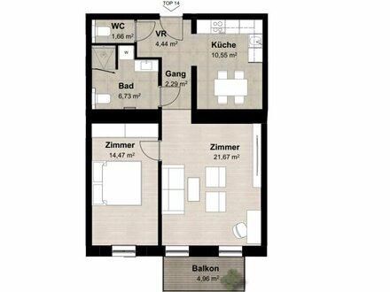 ++NEU** Großzügiger 2-Zimmer ALTBAU-ERSTBEZUG, getrennte Küche + Balkon!