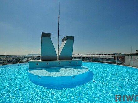 --- Wienerbergcity --- 3 Zimmer-Neubauwohnung mit Loggia --- Swimmingpool - Wellnessbereich - Fitnessstudio --- Am Rande…