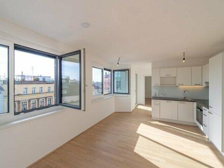 Six in the City: Hochwertige 2-Zimmer NEUBAUwohnung mit Balkon! BESTLAGE, gleich beim Haus des Meeres!