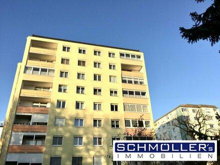 Möblierte helle Wohnung mit Loggia und Weitblick