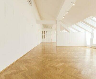 Bezauberndes DG-Büro mit 2 Zimmern und viel Charme, nahe Schwarzenbergplatz zu vermieten!