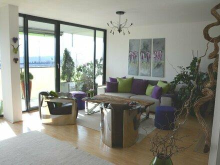 Panoramabergblick - tolle Neubauwohnung mit großem Westbalkon und Fernblick