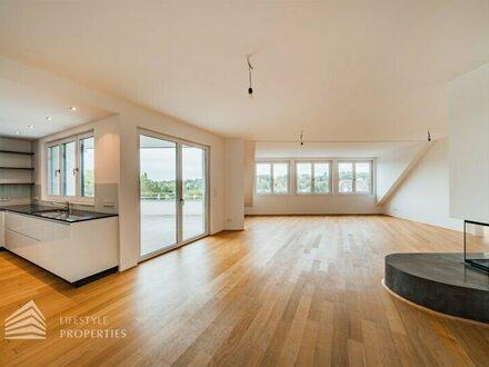 Stylische 5-Zimmer Dachgeschosswohnung mit Fernblick-Terrasse und Garage in Grinzing
