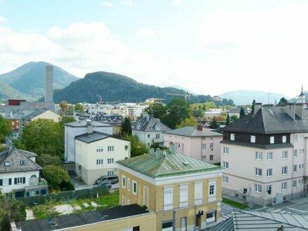 3 Zi. Eckwohnung mit Loggia - Blick über die Dächer von Salzburg