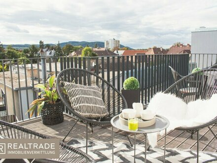 Dachterrassentraum - Exklusiver Erstbezug - Maisonette mit 2 Terrassen und 2 Bädern - inkl. Tiefgaragenplatz