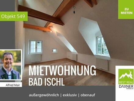 Ansehnliche Dachgeschoß-Mietwohnung in Zentrumslage von Bad Ischl