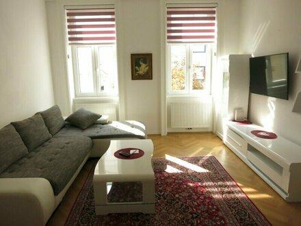 VOLLMÖBLIERTES 2 Zimmer- Apartment - zentrale Ruhelage Nähe Mariahilferstraße / Kurzzeitvermietung