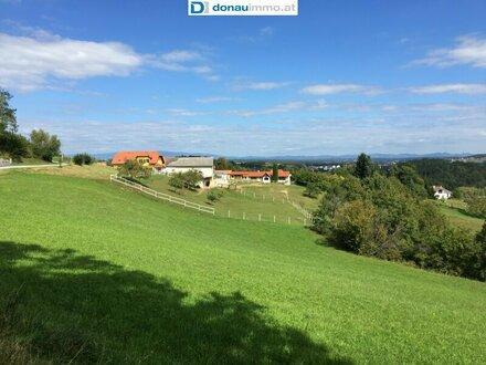 Baugrundstück mit außergewöhlichem Panoramablick in Stegersbach