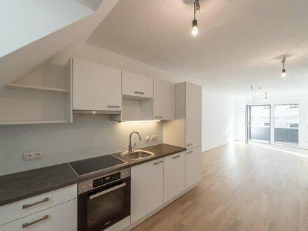 Six in the City: Hochwertiges DG-Apartment, BESTLAGE! 2-Zimmer ERSTBEZUG mit Terrasse! **RUHELAGE**