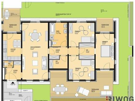 PROVISIONSFREI! Besichtigungen bereits möglich!!! FAMILIENHIT!! Großzügige Gartenwohnung mit 3 Terrassen!!!