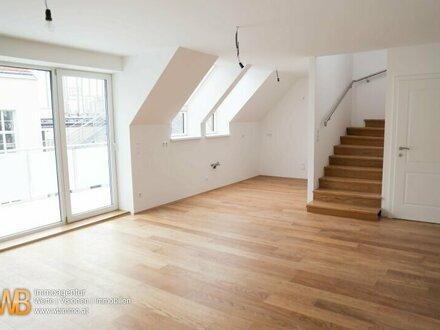 Erstbezug! Hochwertige 4-Zimmer DG-Maisonette, mit 105 m² !