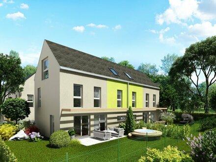 Moderne Doppelhäuser in absoluter Ruhelage mit Fernblick über Wiesen und Felder
