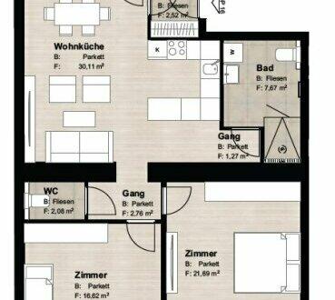 ++ Marchfeld15 ++ 3-Zimmer Altbauwohnung mit 2 Balkonen und perfekten Grundriss/Erstbezug