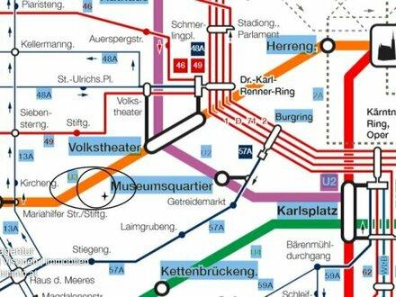 Beste Lage an der Fussgängerzone Mariahilferstrasse/ Museumsquartier