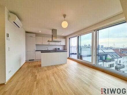 PENTHOUSE | Riesige Verglasung mit Weitblick - 2 Schlafzimmer / große Wohnküche - voll klimatisiert - süd-ost Dachterrasse…