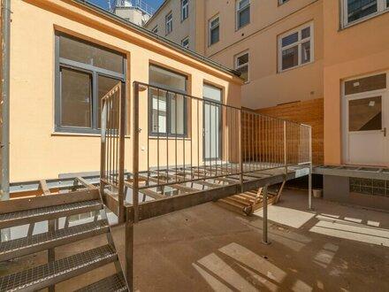 ++NEU++ Generalsaniertes 1-Zimmer Hofgebäude mit Terrasse u. Garten/Hofanteil!